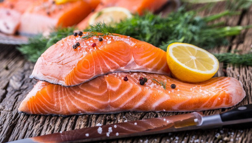 Sjømat og spesielt villaks, skal være toppen for god hjertehelse! Foto: NTB Scanpix