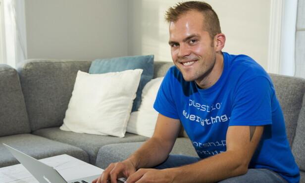 PAPPABLOGGER: Peter Kihlman driver pappabloggen pappahjerte.no. Dette gjør han på fulltid, og omtaler bloggen som «en pappablogg for tøffe menn med myke hjerter» . Foto: Per Flåthe / Dagbladet