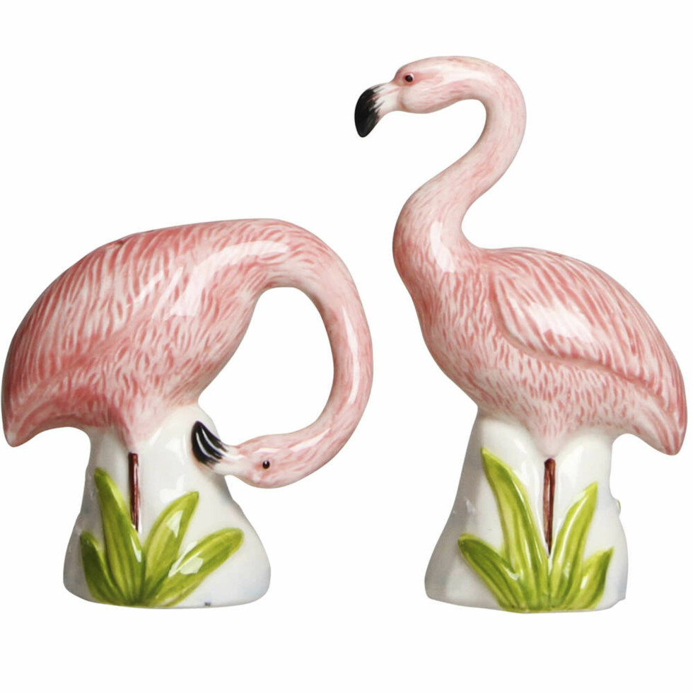 Salt- og pepperbøsse fra &Klevering |239,-| https://www.ting.no/klevering-salt-og-pepper-flamingo#.Wng02a7ibmE
