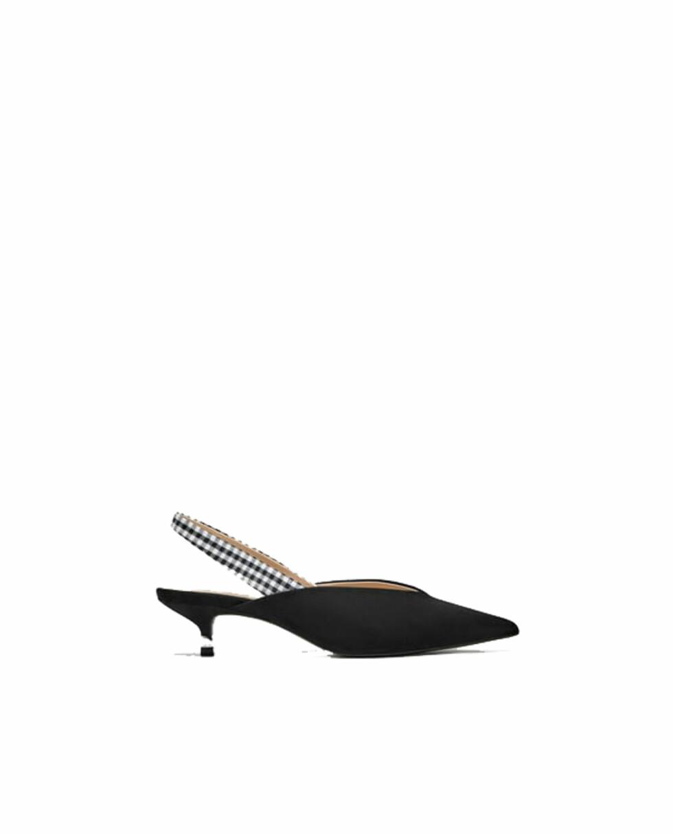 Sko fra Zara |299,-| https://www.zara.com/no/no/sko-med-%C3%A5pen-h%C3%A6l-og-m%C3%B8nstret-rem-p12212301.html?v1=5323403&v2=719531
