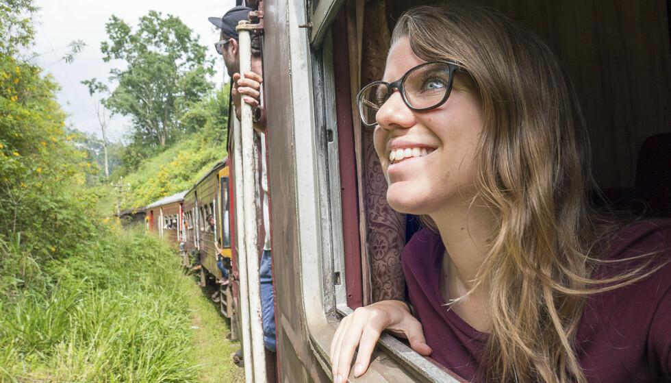 LEVER PÅ BUDSJETT: Ingeborg Lindseth lever på rundt 9000 kroner i måneden. Inntekten hennes kommer fra utleie av en leilighet hjemme i Oslo og småjobber underveis på reisen. FOTO: Ingeborg Lindseth