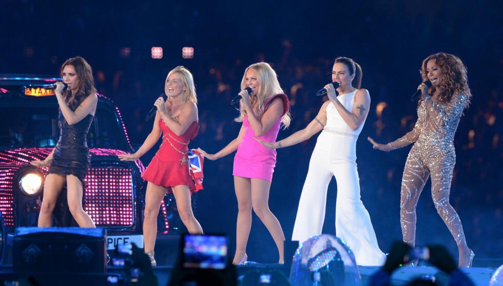 SPICE GIRLS: Spice Girls ble sist sett sammen på scenen under OL i London i 2012, hvor de hadde en reunion-opptreden på avslutningsseremonien. FOTO: NTB Scanpix