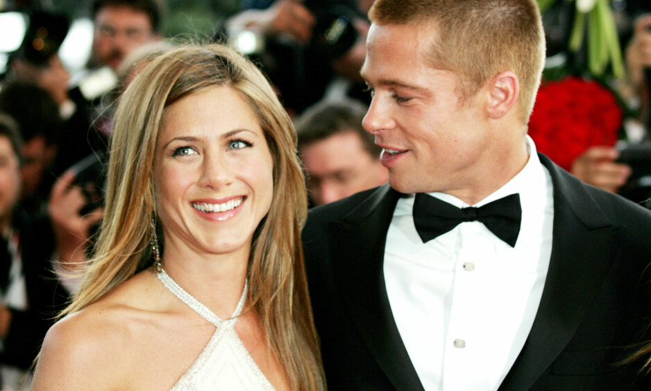 JENNIFER ANISTON & BRAD PITT: Hollywood-paret Jennifer Aniston og Brad Pitt var sammen i fem år før kjærligheten tok slutt. Eller gjorde den egentlig det? Foto: NTB Scanpix
