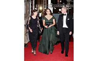 Den vordende trebarnsmorens BAFTA-antrekk skapte nok mer oppmerksomhet enn hun hadde regnet med
