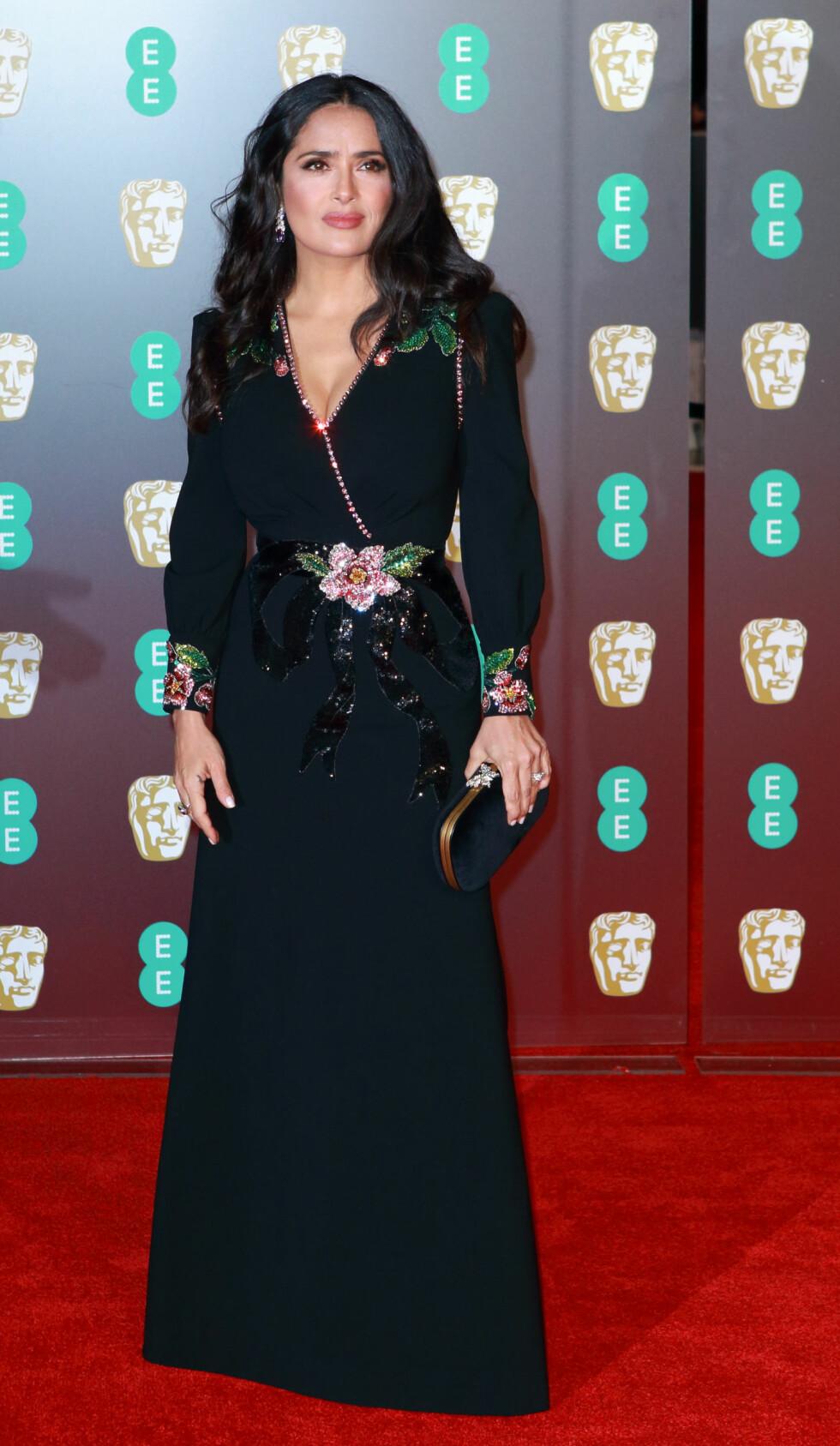 BAFTA: Salma Hayek. Foto: NTB Scanpix