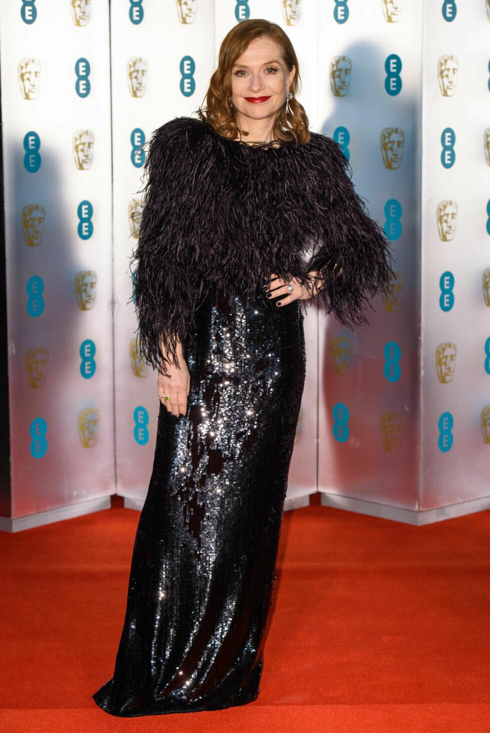 BAFTA: Isabelle Huppert. Foto: NTB Scanpix