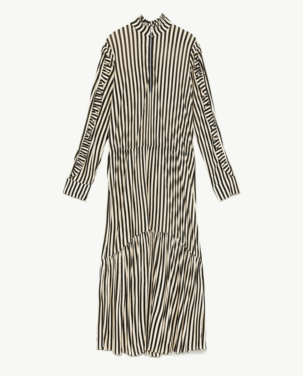 Kjole fra Zara  349,-  https://www.zara.com/no/no/stripet-kjole-med-glidel%C3%A5s-p05644317.html?v1=5832082&v2=805004