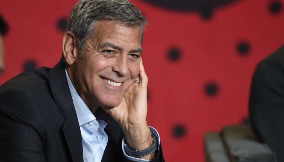 ORGANISERTE TV-AKSJON: George Clooney på pressekonferanse for filmen Suburbicon på den internasjonale filmfestivalen i Toronto. FOTO: NTB Scanpix