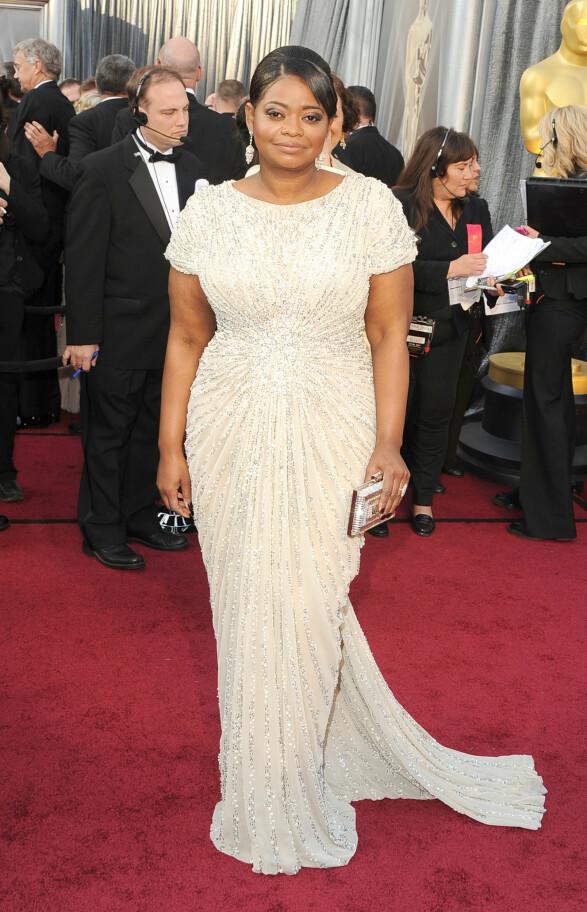 2012: Denne kjolen er som lagd for Octavia Spencer! Foto: Scanpix