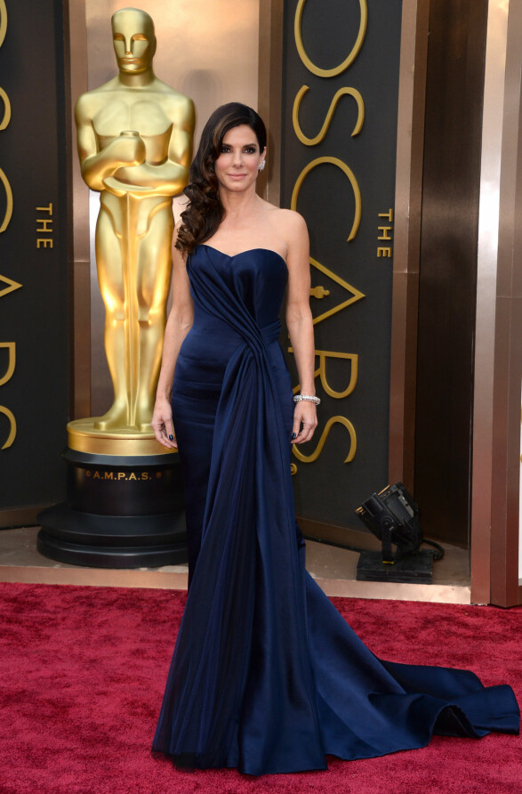2014: Wow! For en nydelig blåfarge, Sandra Bullock. Foto: Scanpix