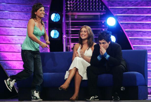 DEN GANG DA: I 2005 deltok Alejandro Fuentes i TV 2-programmet Idol sammen med Jorun Stiansen og Tone Damli. Han kom på tredjeplass. Jorun stakk av med seieren mens Tone kom på andreplass. Foto: NTB Scanpix