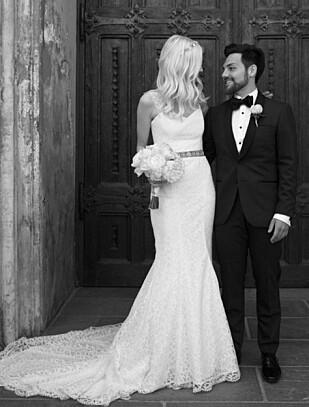 BRYLLUP: 7. juni 2014 giftet Alejandro Fuentes og kjæresten Christina seg i Kristiansand Domkirke. Foto: Privat