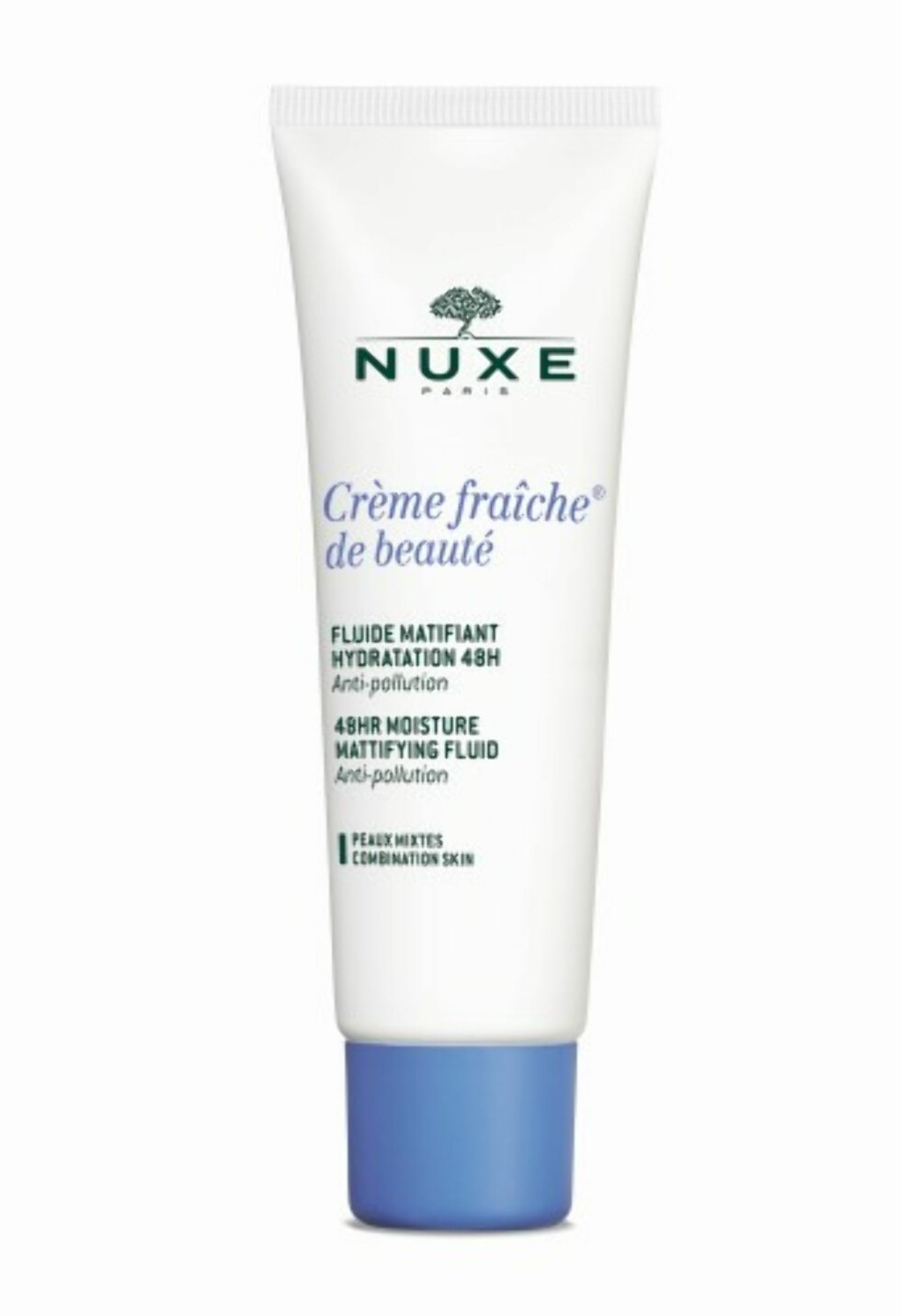 Krem for kombinasjonshud fra | NUXE | https://www.apotek1.no/produkter/nuxe-cr-fraic-48-moistur-fluid-888078p?utm_source=KK.no&utm_medium=Advetorial&utm_campaign=Nuxe%20Creme%20Fraiche&utm_term=888078