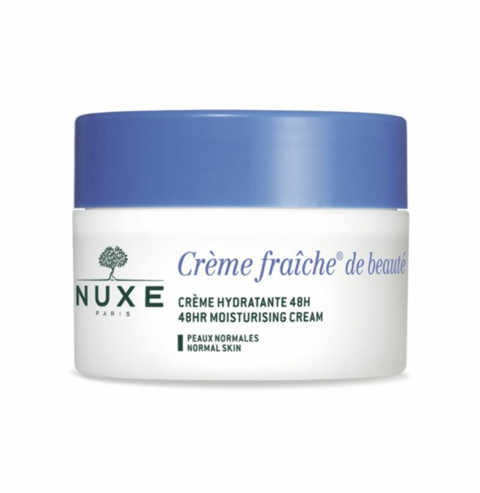 Krem for normal hud fra | NUXE | https://www.apotek1.no/produkter/nuxe-cr-fraic-48-moist-norm-cr-848840p?utm_source=KK.no&utm_medium=Advetorial&utm_campaign=Nuxe%20Creme%20Fraiche&utm_term=848840