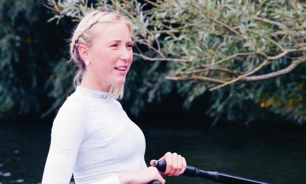 LAM: Det uvirkelige skjedde med rotalentet Ebba: Hun gikk fra gull i roing til å bli lam kort tid etter. FOTO: Privat