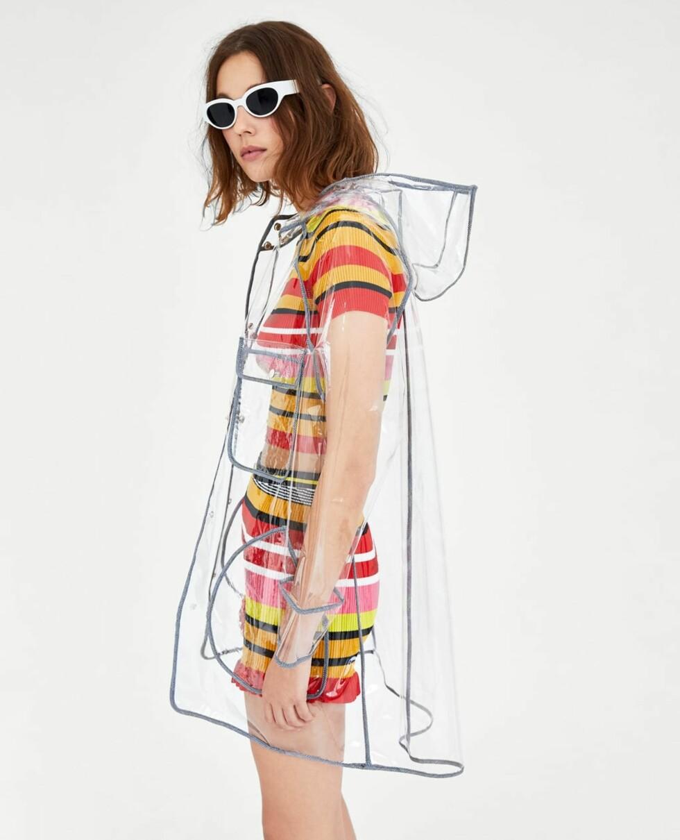 Regnjakke fra Zara |399,-| https://www.zara.com/no/no/vannavst%C3%B8tende-transparent-regnfrakk-p04341025.html?v1=5706068&v2=710516