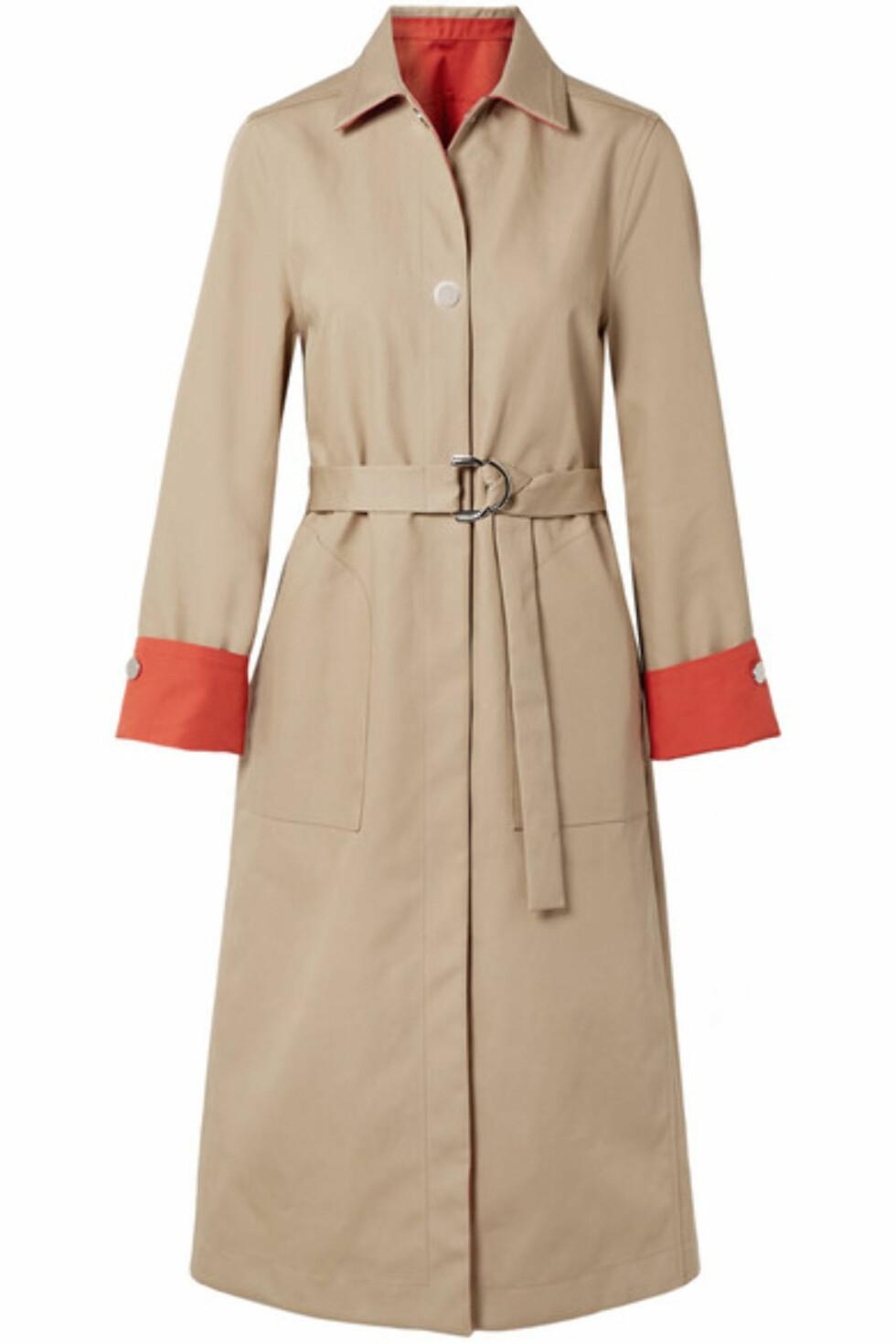 Trenchcoat fra Maje |5100,-| https://www.net-a-porter.com/no/en/product/1047820/Maje/reversible-two-tone-cotton-gabardine-trench-coat