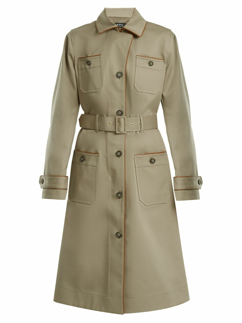 Trenchcoat fra A.P.C. |4340,-| https://www.matchesfashion.com/intl/products/A-P-C--Pauline-point-collar-cotton-blend-trench-coat-1189883
