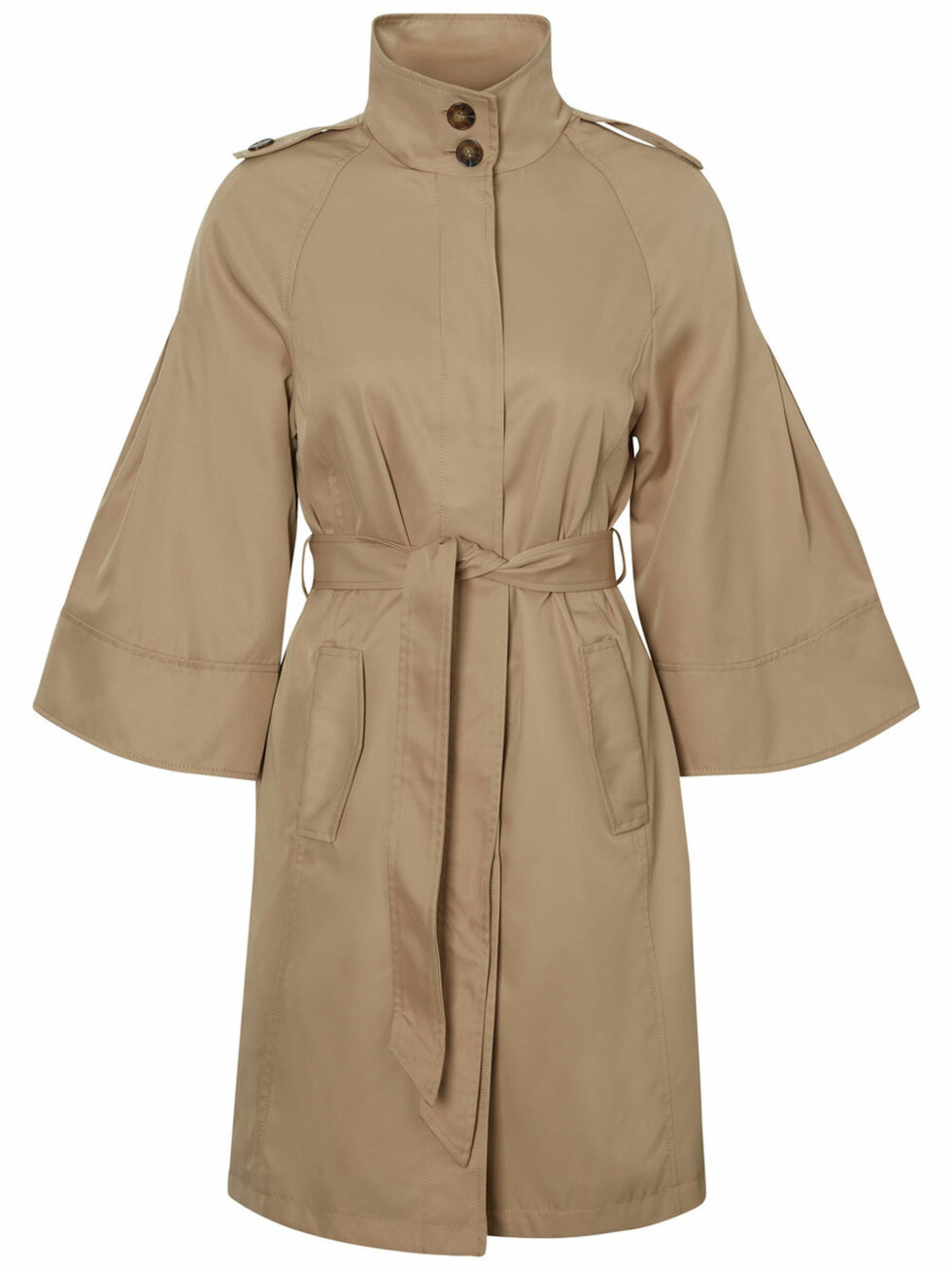 Trenchcoat fra Vero Moda |550,-| https://www.veromoda.com/no/no/vm/kjoep-etter-kategori/jakker/3-4-sleeved-trenchcoat-10189744.html?cgid=vm-jackets&dwvar_colorPattern=10189744_Travertine