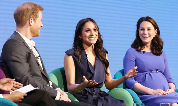 ENGASJERT: Meghan Markle har i en årrekke kjempet for kvinners rettigheter, og er plant annet talskvinne for FN. Her under paneldebatten i London arrangert av The Royal Foundation Forum. Foto: NTB Scanpix
