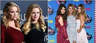 6 døtre som er prikk like sine kjendismødre