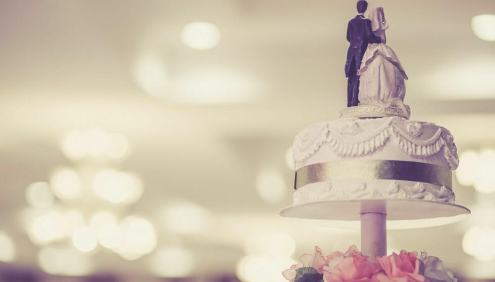 KAKE: Prisene på bryllupskaken varierer mye. FOTO: NTB Scanpix