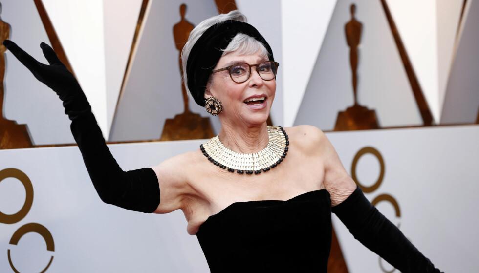 <strong>OSCAR 2018:</strong> Rita Moreno overrasket alle og kom i kjolen hun brukte under Oscar-utdelingen i 1962. Foto: Scanpix