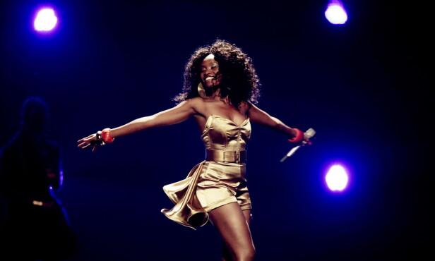 «HABA HABA»: Stella i semifinalen under Eurovision Song Contest i Tyskland i 2011. FOTO: NTB Scanpix