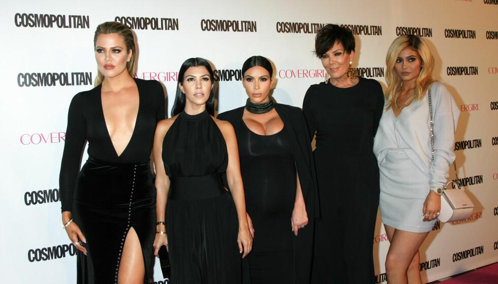 THE KARDASHIANS: Kardashian-søstrene har blitt kjent for sine spesielle barnenavn. FOTO: NTB Scanpix