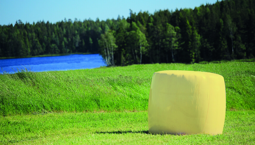 BARNEKREFT: I år dekkes norske jorder av gule rundballer til inntekt for Barnekreftforeningen.