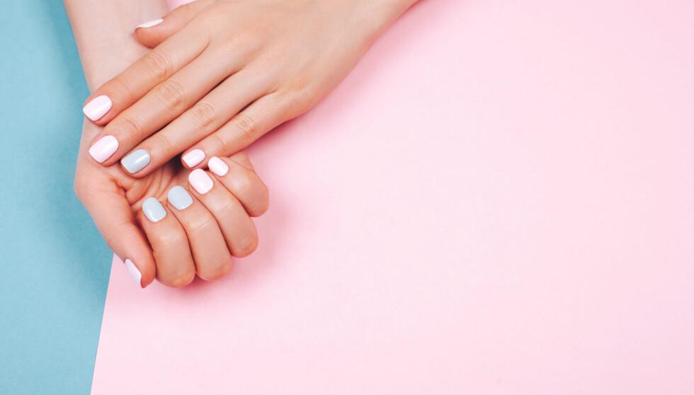 NEGLELAKK PÅ SPRAY: Fancy negler er satt å bli en av 2018 store skjønnhetstrender. Vil neglelakk på sprayen hjelpe oss med dette? FOTO: NTB Scanpix