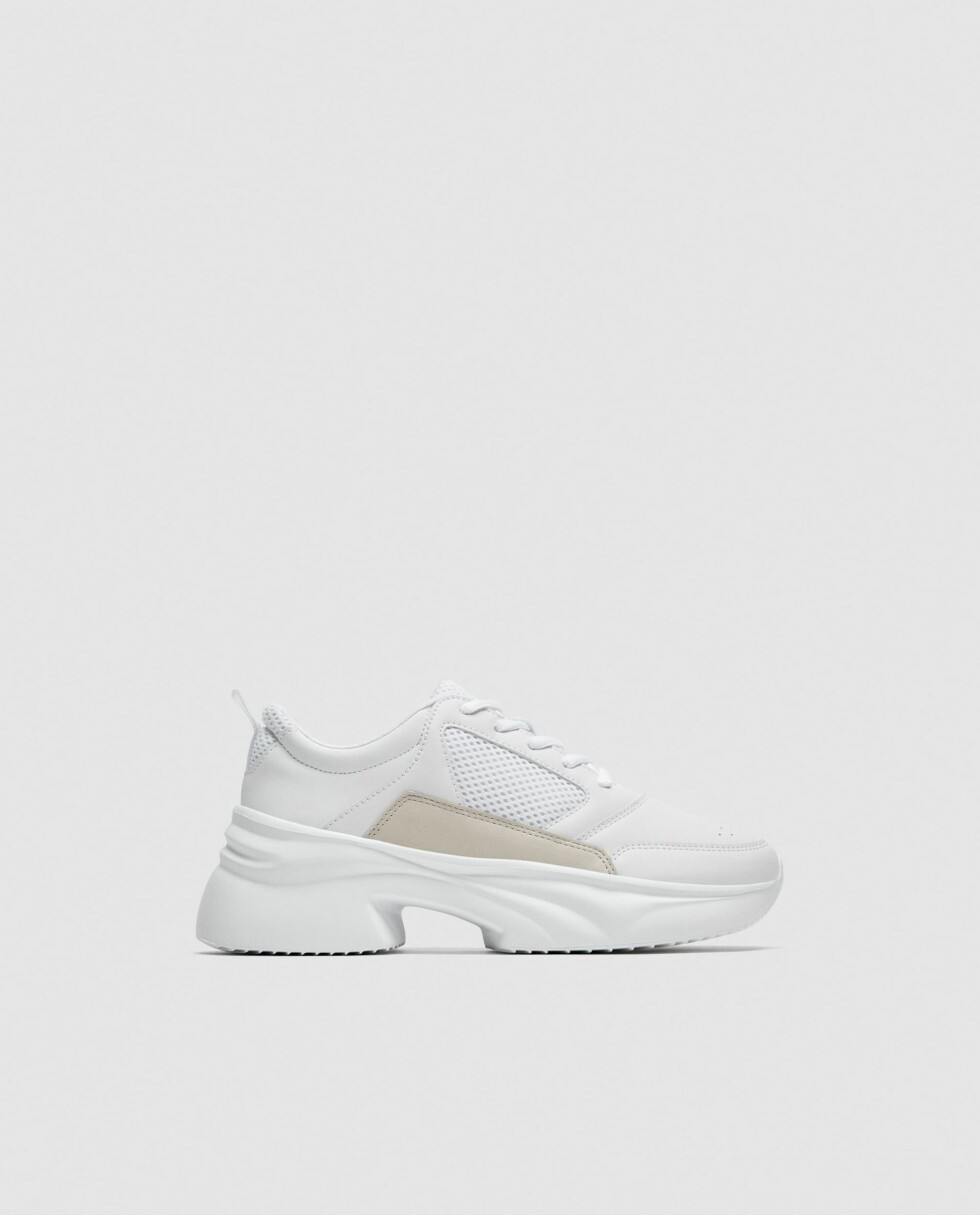 Sneakers fra Zara |550,-| https://www.zara.com/no/no/joggesko-med-bred-s%C3%A5le-p11417301.html?v1=5458142&v2=719531