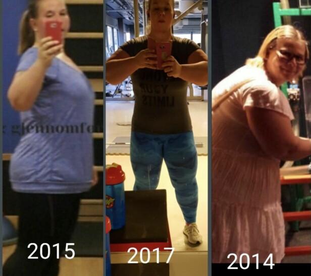 EN STOR ENDRING: Anne Lise har gått ned mange kilo på noen få år. FOTO: Privat