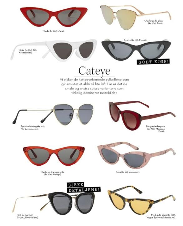 CATEYE: Denne solbrillesaken finner du også i KK 7! Foto: Produsentene