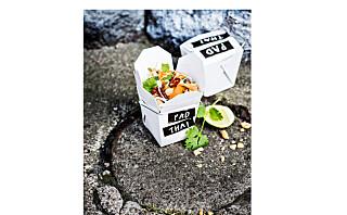 Pad thai med kylling og tofu