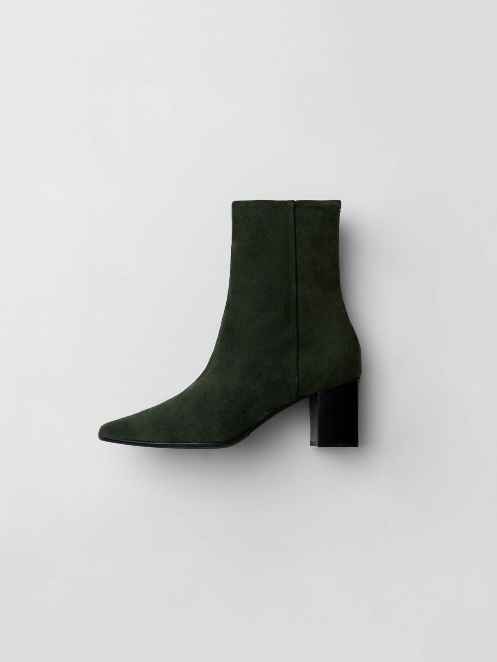 Grønn fra Aeyde |2600,-| https://www.aeyde.com/products/boris-forest-suede