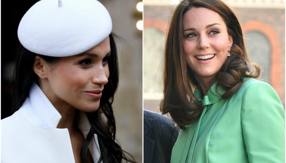 MEGHAN MARKLE: Flere spekulerer nå i om dronningen egentlig ha en favoritt blant Kate og Meghan. FOTO: NTB Scanpix