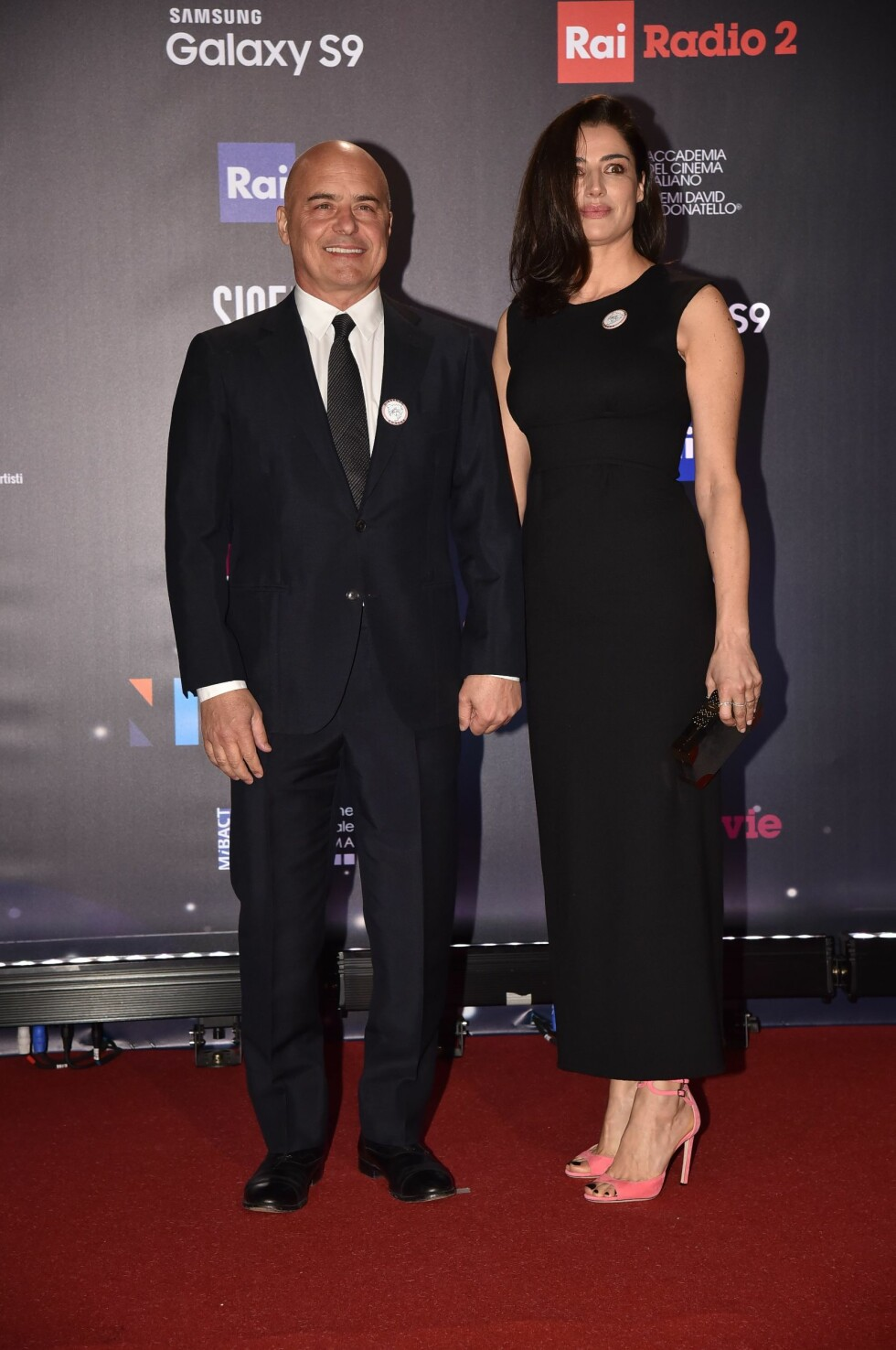 "David di Donatello Awards 2018 - Italy. Rome, Studies De Paolis Red Carpet Of the 62nd Edition of the ""David Di Donatello"" Awards, In the picture: Luca Zingaretti Luisa Ranieri URN:35639363"