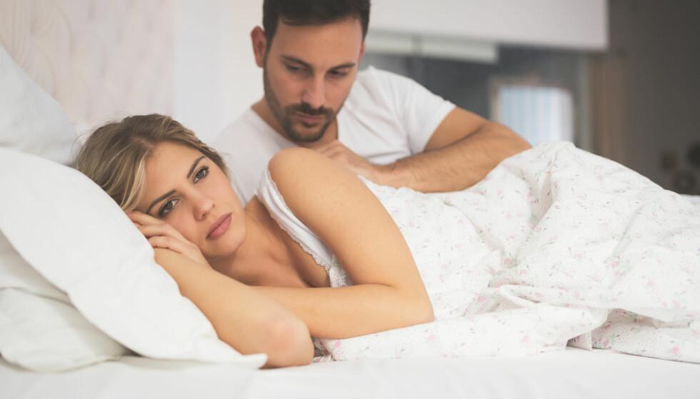 HUMØRSVIGNINGER: Humørsvingninger, oppblåsthet og irritabilitet er symptomer kanskje mange av oss kan kjenne igjen i tiden rett før menstruasjon, men ved alvorlig PMS er dette bare toppen av isfjellet. Foto: REX/Garo/Phanie/All Over Press