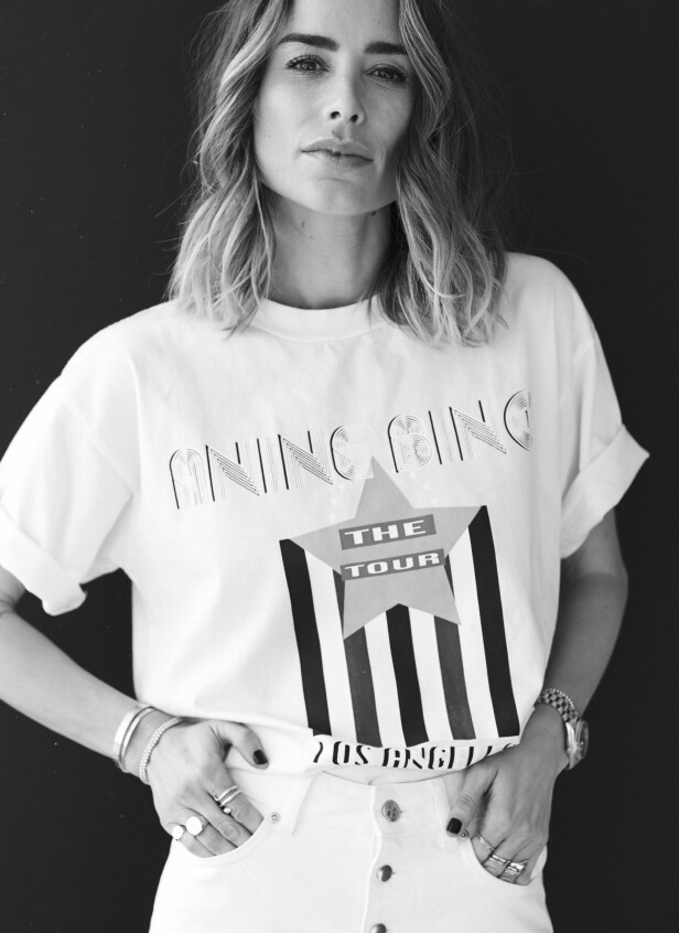 Anine Bing i klær fra samarbeidskolleksjonen sin med Gina Tricot. FOTO: Produsenten