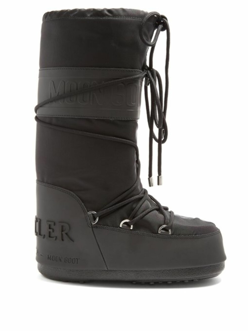 Sko fra Mocler x Moon Boot |2585,-| https://www.matchesfashion.com/intl/products/Moncler-X-Moon-Boot%C2%AE-leather-trimmed-apr%C3%A9s-ski-boots-1200141