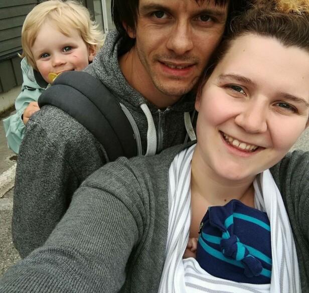 FAMILIE PÅ FIRE: Melisa og samboeren har fått to barn sammen - litt tidligere enn planlagt. FOTO: Privat