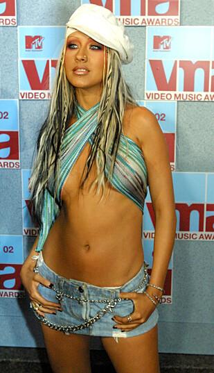 DEN GANG DA: Christina Aguilera fotografert under MTV Video Music Awards i 2002. Foto: NTB Scanpix