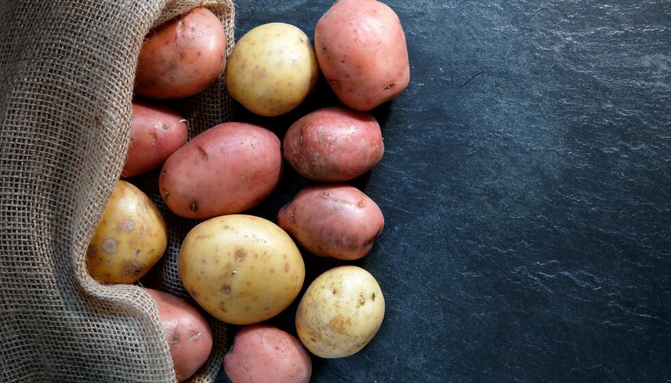 POTETER: Poteten er en rotfrukt som skal oppbevares kjølig og mørkt. FOTO: NTB Scanpix