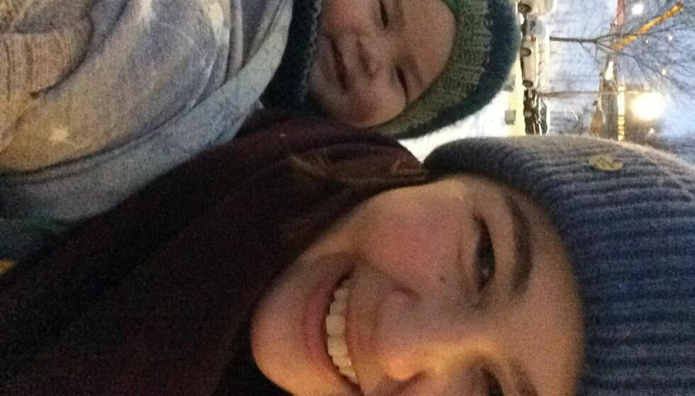 FORELDREPERMISJON: Marita Eliassen Young synes det er riktig å øke fedrekvoten. Hun og ektemannen William valgte å dele permisjonen likt. FOTO: Privat