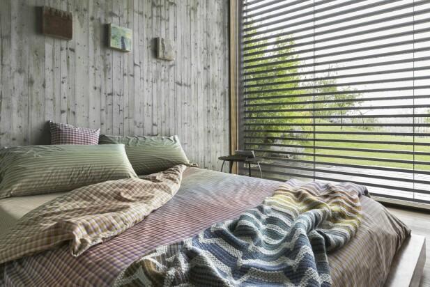 SOVEROMMET: Du skal ikke undervurdere nytt sengetøy i friske farger - kjappeste makeoveren! FOTO: Produsenten