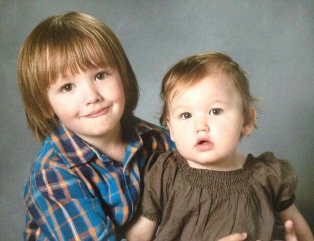 TRISTAN OG TEKLA: Tristan var veldig glad i lillesøsteren sin, Tekla - det var kun to år som skilte de to. FOTO: Privat