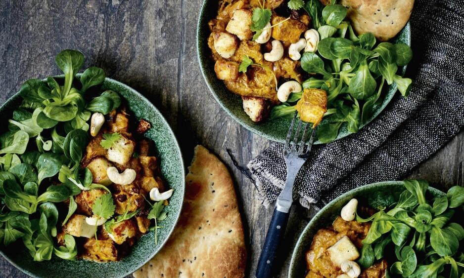 PANEER CURRY: Ah, hva smaker vel ikke bedre enn indisk mat? FOTO: Nina Malling