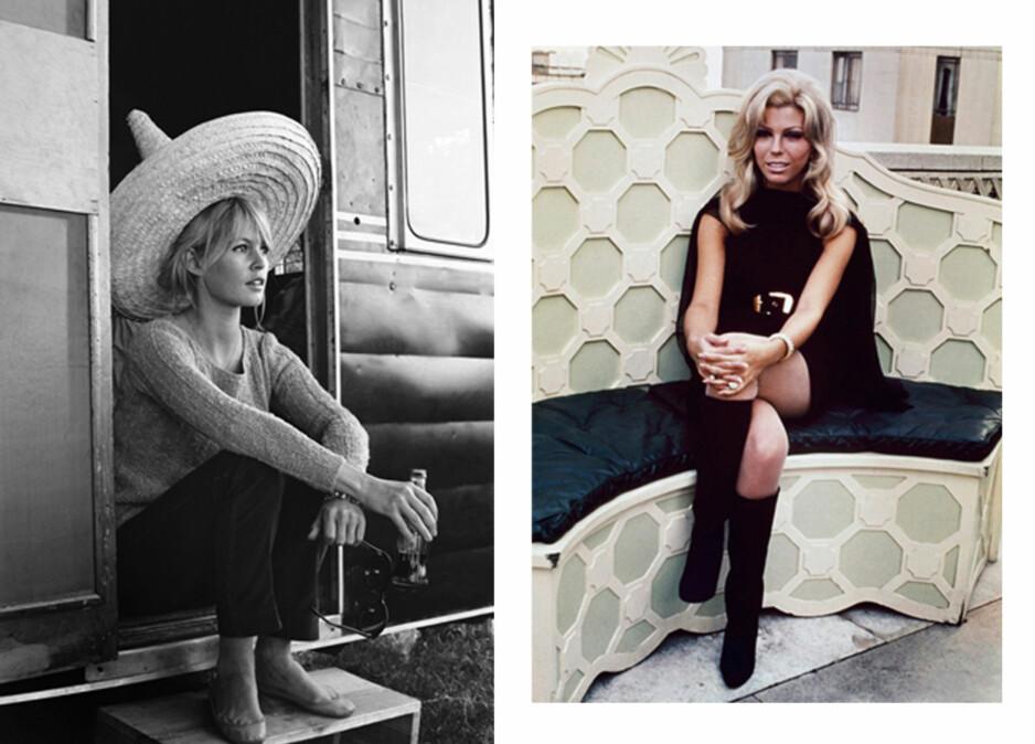 TIDLØSE TRENDER: Disse to er blant damene som fremdeles inspirere oss den dag i dag. FOTO: NTB Scanpix