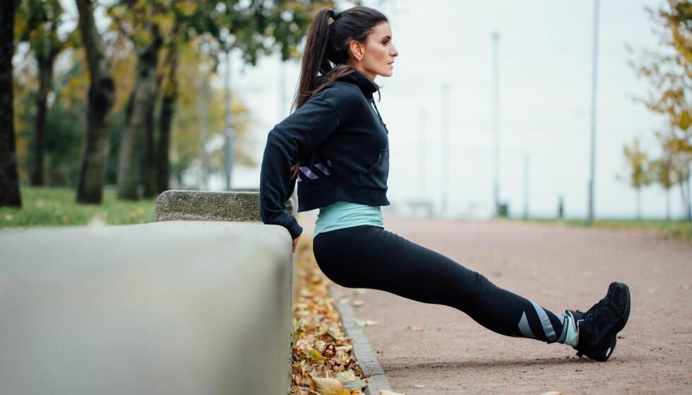 DIPS: Ønsker du stramme, flotte armer er dips en svært effektiv øvelse. FOTO: NTB Scanpix